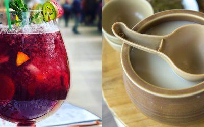 Bebidas tradicionales: Sangría y Makgeolli