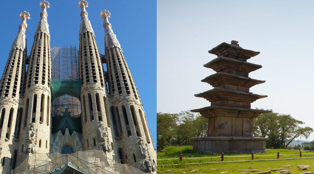 Patrimonio de la Humanidad con gran valor histórico/cultural: La arquitectura de Antoni Gaudi y el sitio histórico de Baekje